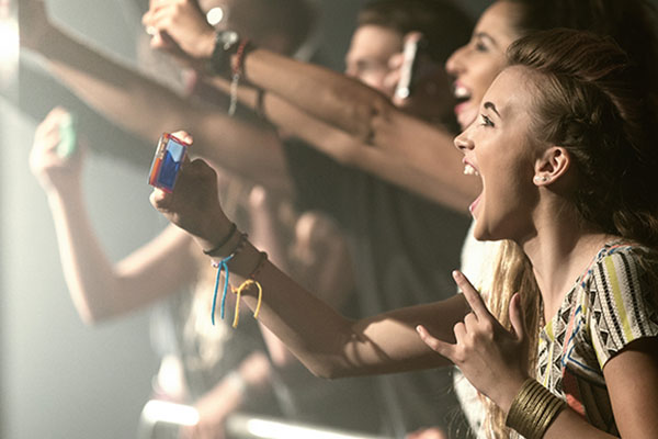 Girl at concert